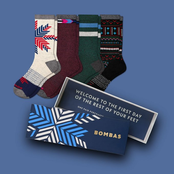 Men's Holiday Sock 4-Pair Gift Box